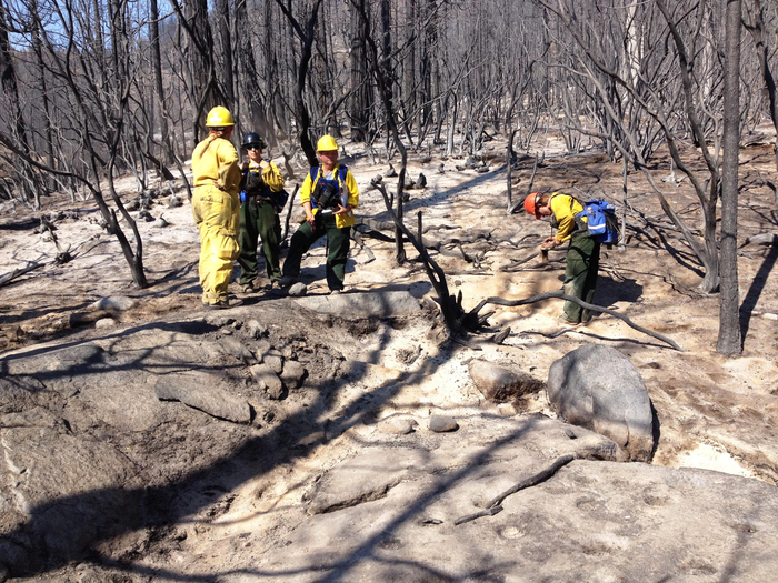 Burned Area Emergency Response (BAER) archeologists and soil scientists