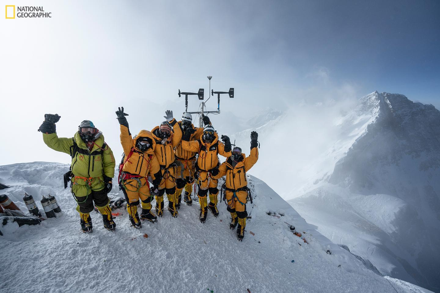 Expedition team on Mount Everest