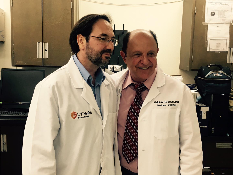 Bruno Doiron, Ph.D., left, and Ralph DeFronzo, M.D.