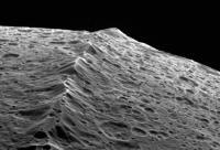 Closeup of the Equatorial Ridge on Iapetus