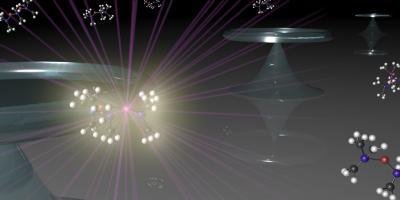 Molecular Vibrations Lead to High Performance Laser (Illustration)