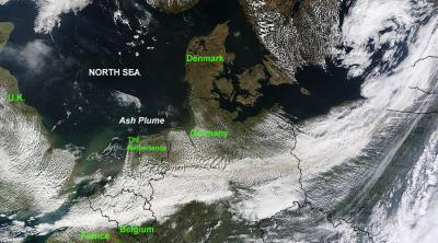 NASA Satellite Image of Volcanic Plume