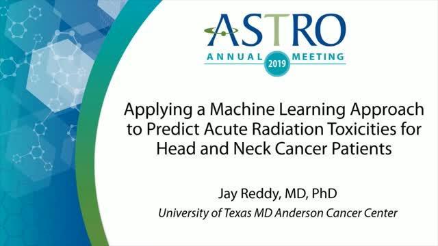 ASTRO 2019 News Briefing: Dr. Jay Reddy