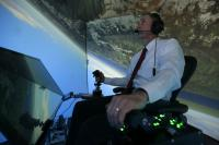 Retired United States Air Force Colonel Gene Lee in Flight Simulator