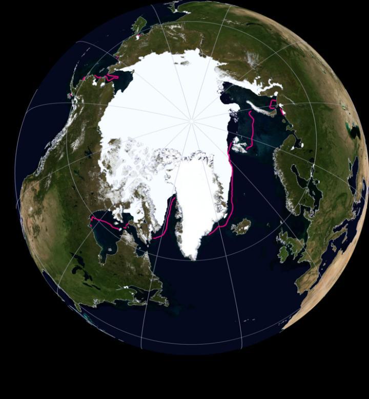 Arctic Sea Ice Extent: Nov 2016