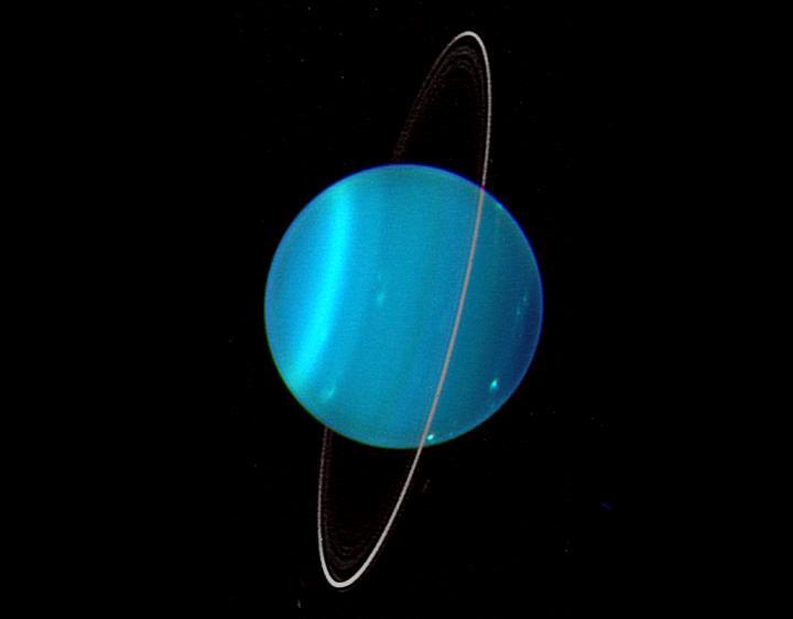 Orientation of Uranus' Rings