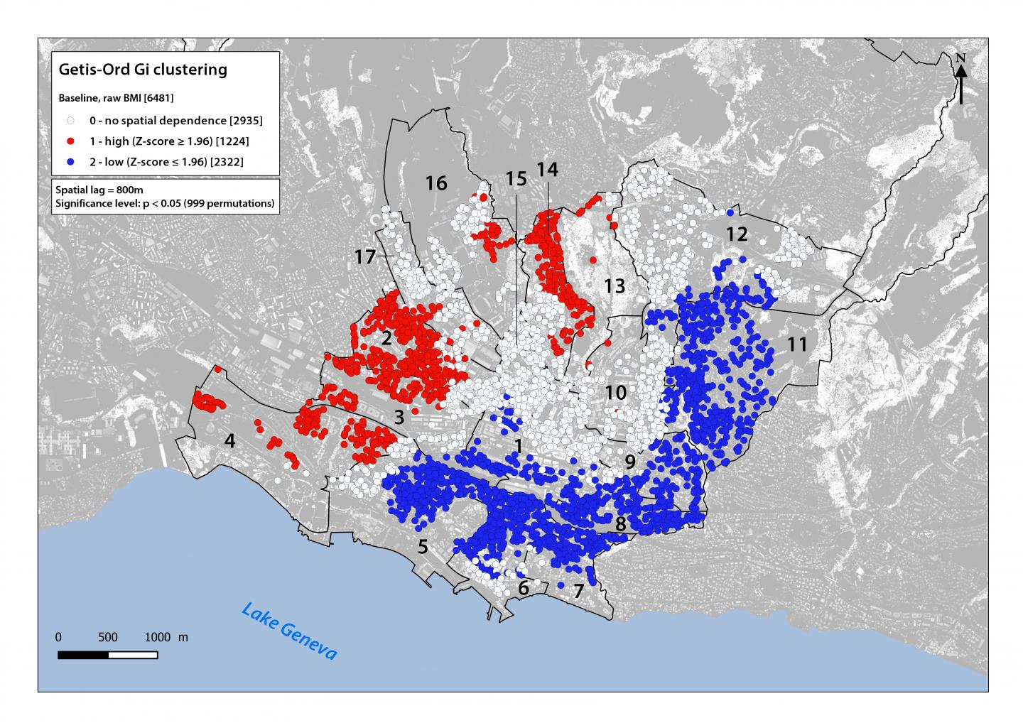 City of Lausanne: How BMI is Distributed