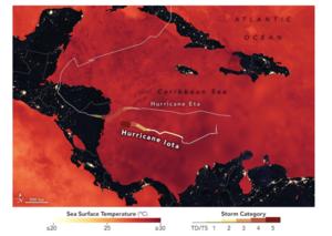 Map of Iota and Eta Tracks