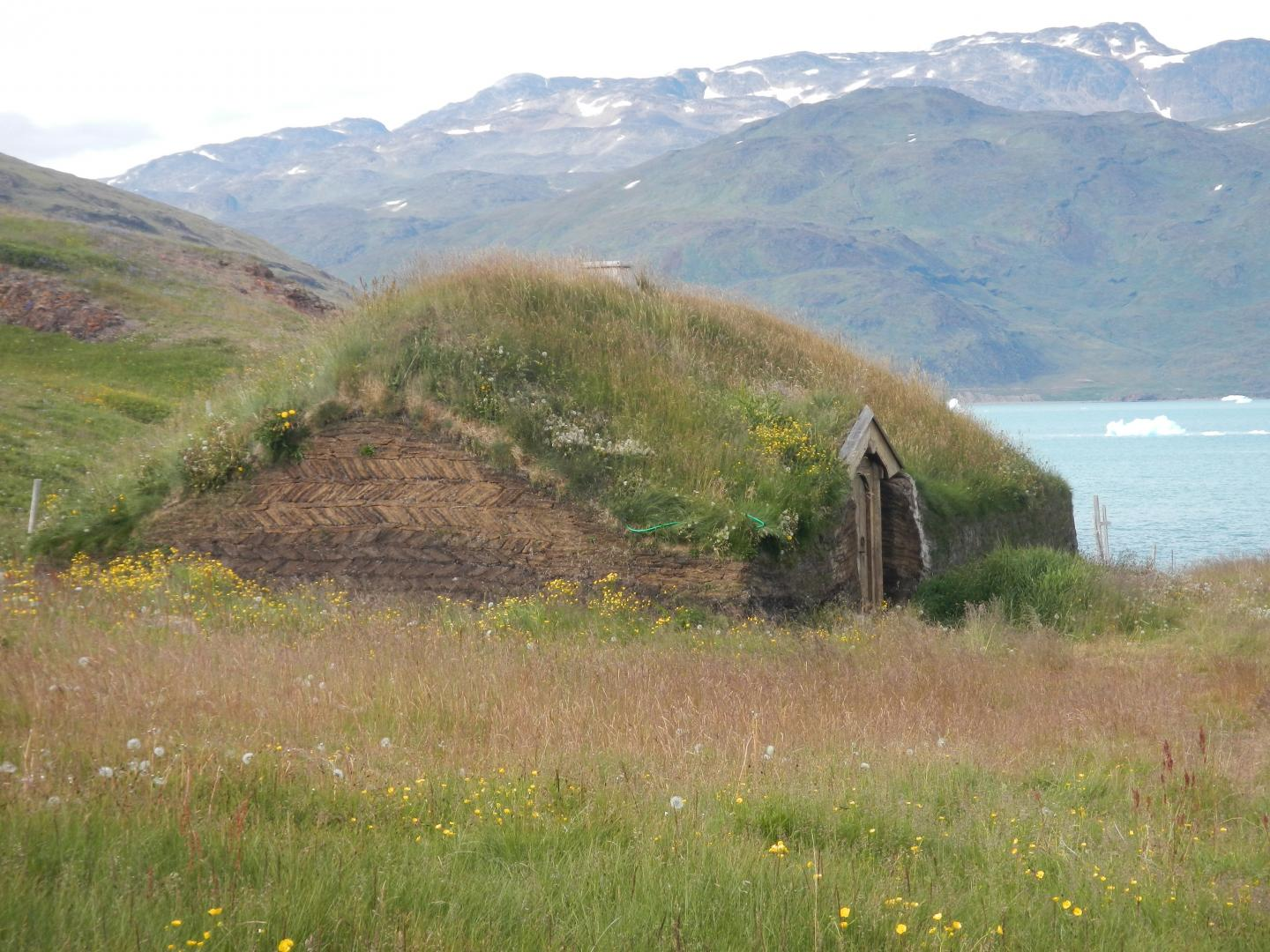 Reconstruction of a Typical Norse Longhouse in Qassiarsuk, in Norse Times Brattahlid, SW Greenland