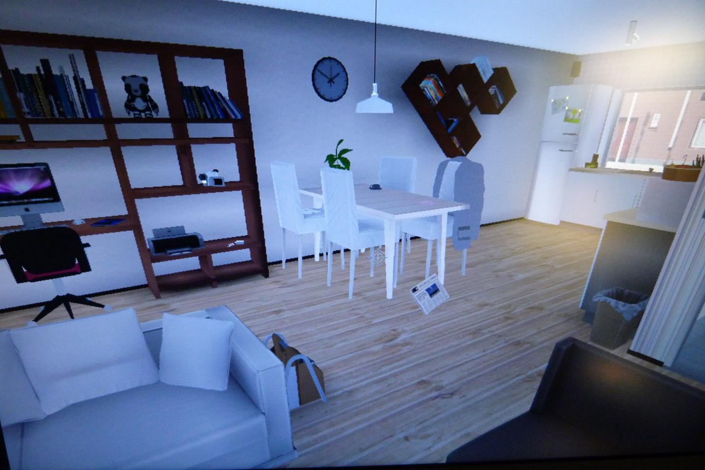 Interior of Virtual Reality House Built for the Burglars to Steal From