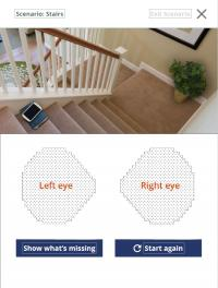 Screenshot from Glaucoma in Perspective app - stairwell