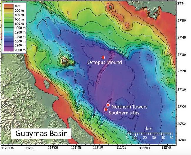 Guaymas Basin Sampling Sites