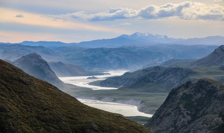 Isortoq River with meltwater from Isunnguata Sermia Glacier Greenland