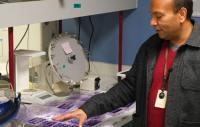 Sumit Chanda, Ph.D. in the lab