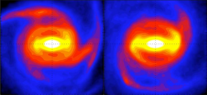 Snapshots from a Milky Way galaxy simulation