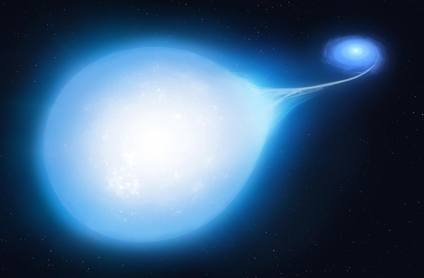 Artist's impression of the HD265435 system at around 30 million years from now