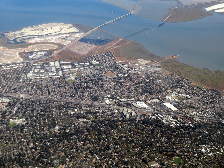 Aerial of East Palo Alto
