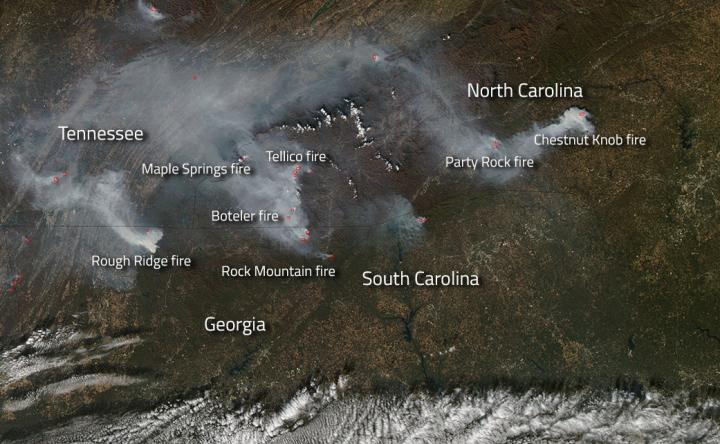 Southern US Fires