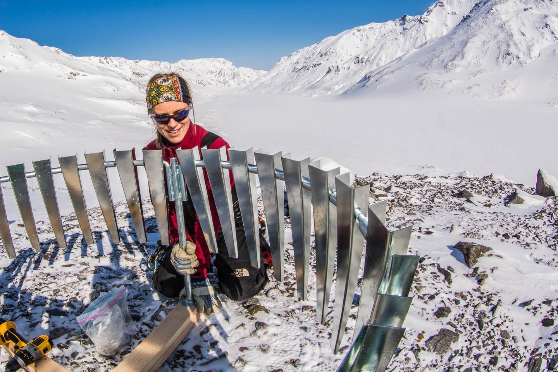 Protecting a Rain Gauge on Jarvis Glacier