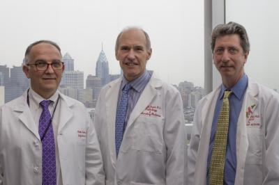 Pablo Tebas, Carl Juneand Bruce Levine, University of Pennsylvania Perelman School of Medicine