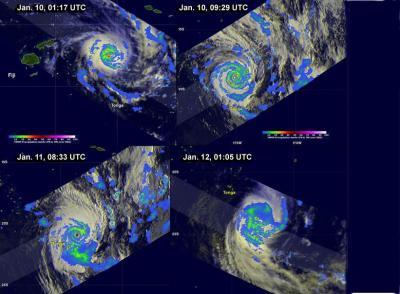 TRMM Collage of Cyclone Ian