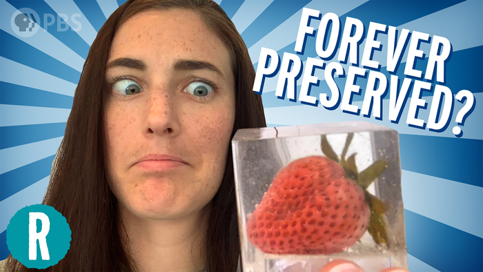 Can we preserve a strawberry forever? (video)