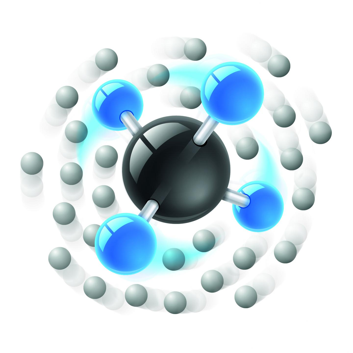Angulon Quasiparticle Formed from a Methane Molecule in Superfluid Helium