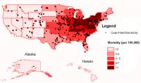 Coal Map of US Deaths