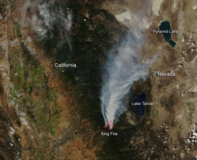 California's King Fire East of Sacramento