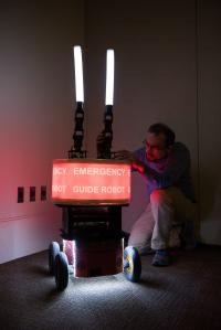 Paul Robinette and Rescue Robot