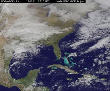 GOES-East Animation of March 2017 snowstorm