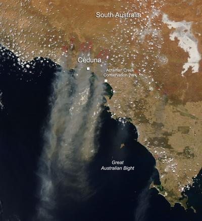 Bushfires in South Australia Jan. 16, 2014
