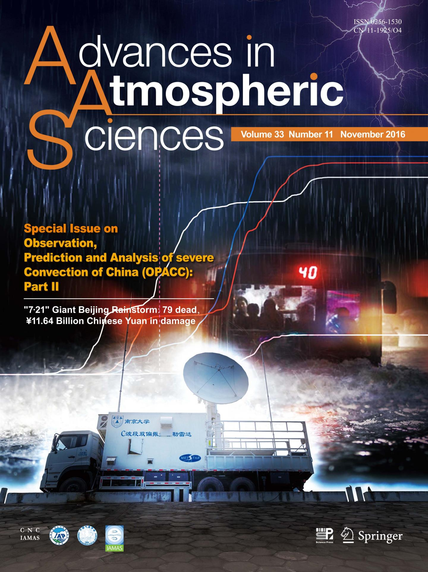 Cover Article of Issue 33(11) of <i>Advances in Atmospheric Sciences</i>