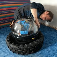 Evgeny A. Podolskiy assembling the ocean-bottom seismometer