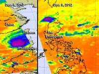2 Day Comparison Shows Drastic Change in Typhoon Bopha