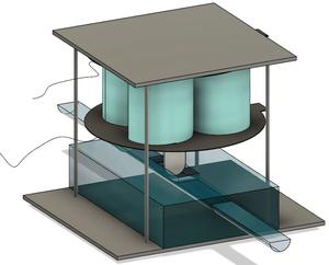 An assembled soft dynamic DEA valve
