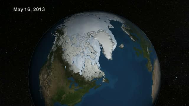 Summer Arctic Sea Ice Retreat: May - August 2013