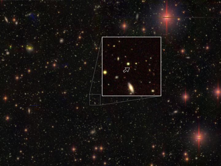 Subaru Telescope Image of Distant Quasar