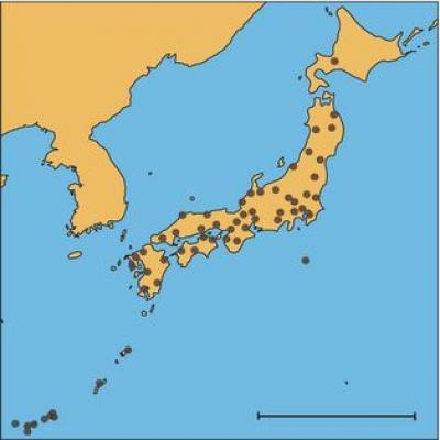 Map of 57 Japonic Languages