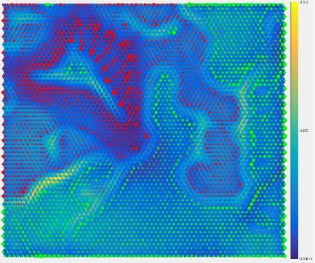 Clustering of the Reaction of the Auditory Nerve for Two Phonemes on the Distance Matrix
