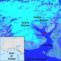 Map of Icy Bay, Alaska