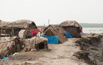 Bangladesh Villagers Live Atop and Levee