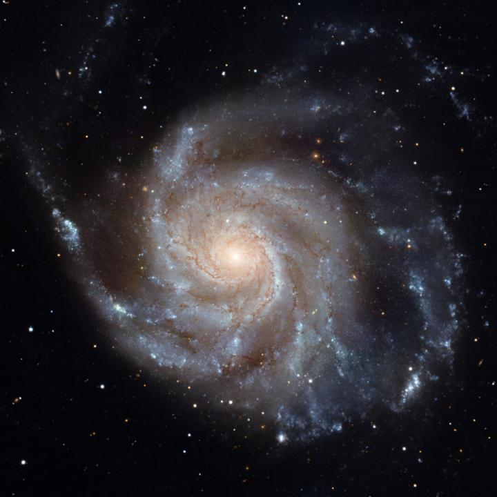 An image of Messier 101, the Pinwheel Galaxy, made with the Hubble Space Telescope.