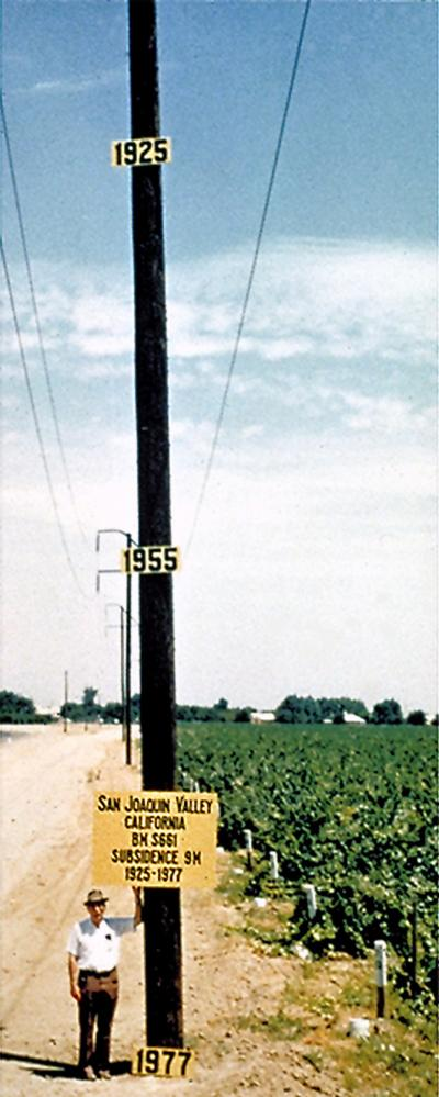 Subsidence in California's Central Valley