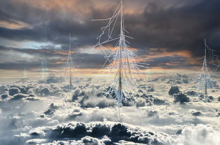 Cosmic ray showers in the atmosphere may be important for cloud formation.