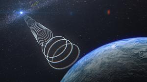 Artist's illustration of radio signal ASKAP J173608.2-321635