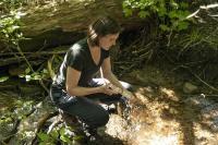 Fieldwork on intermittent stream