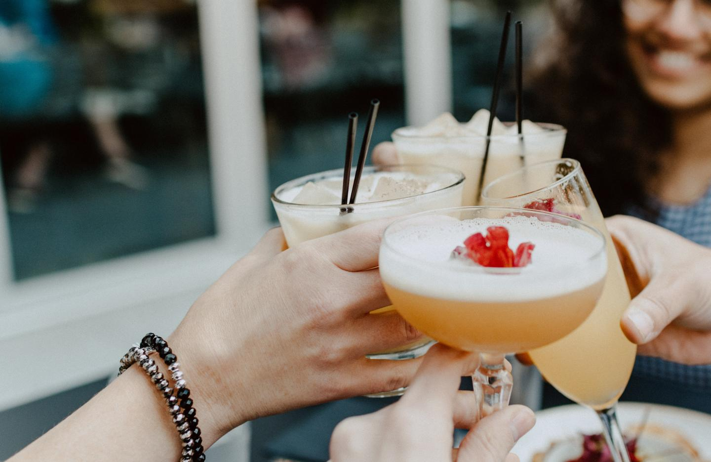 Young Women with Cocktails