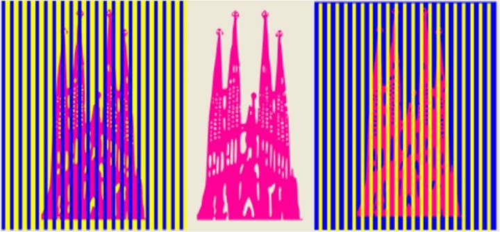 Visual illusion example