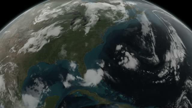 Animation of GPM Data on Hurricane Arthur on July 3, 2014